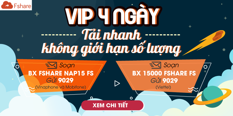 VIP 4 ngày – Tải nhanh không giới hạn số lượng