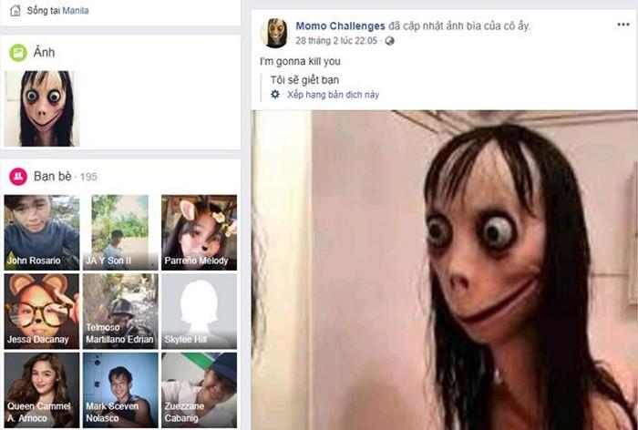 Trào lưu Momo lan từ Youtube sang Facebook