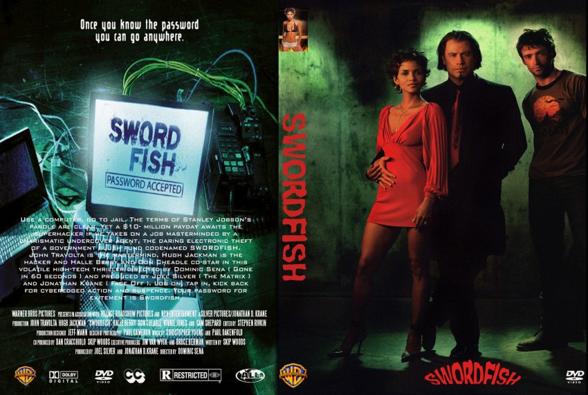 swordfish - Movie DVD Custom Covers - 2304Swordfish hvb1 :: DVD Covers