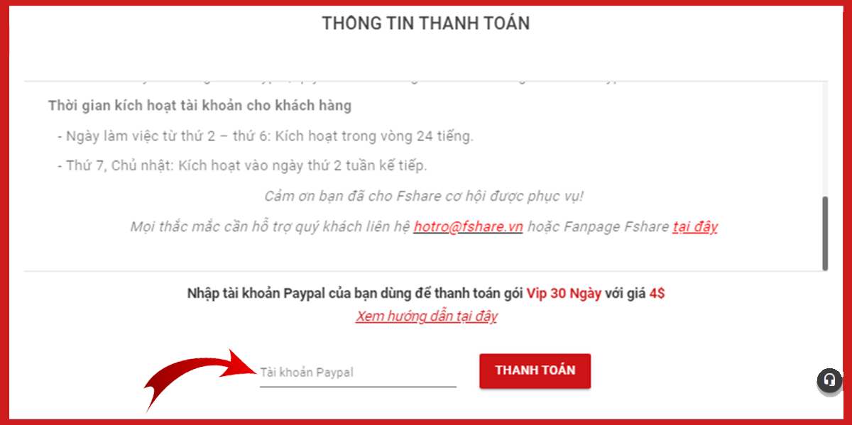thanh toan paypal tren Fshare