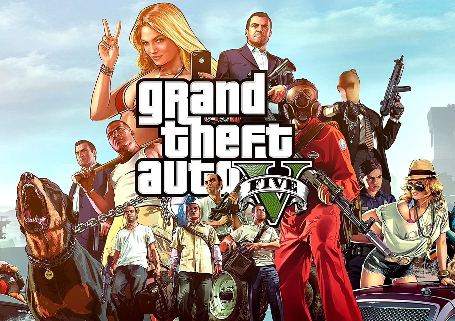 Grand Theft AUTO 5 GTA 5 GTA V Game Poster Photo Print Art A2 A3 A4 Various A3 (42 x 29.7 cm) (GTA Characters) : Amazon.co.uk: Home & Kitchen